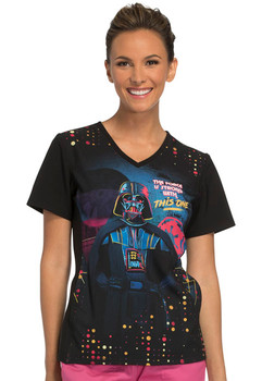 Darth Vader Star Wars Scrub Top For Women
