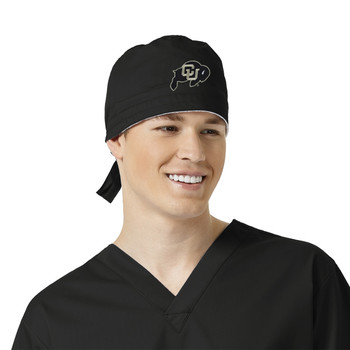 Colorado Buffaloes Black Scrub Cap for Men