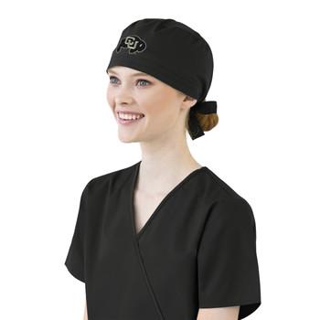 University of Colorado Buffaloes  Black Scrub Cap for Women