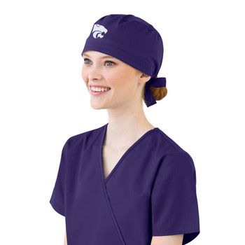 Kansas State Purple Scrub Cap for Women