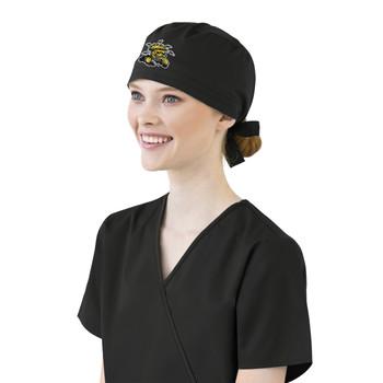 Wichita State Shockers Black Scrub Cap for Women
