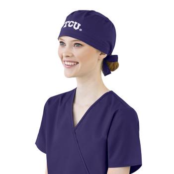 TCU Grape Scrub Cap for Women