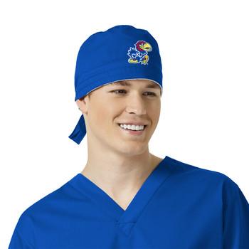 University of Kansas Jayhawks Royal Scrub Cap for Men