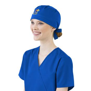 University of Kansas Jayhawks Royal Scrub Cap for Women
