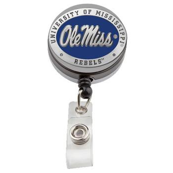 Ole Miss Pewter Badge Reel - Licensed Rebels Badge Reel