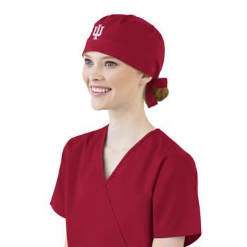 Indiana Hoosiers Cardinal Scrub Cap for Women