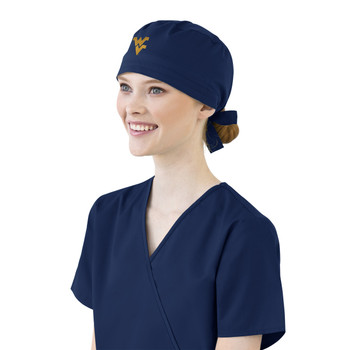 West Virginia Mountaineers Navy Scrub Cap for Women