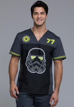 Star Wars Strom Trooper #77 V Neck Scrub Top