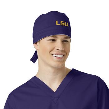 LSU Tigers Grape Scrub Cap for Men