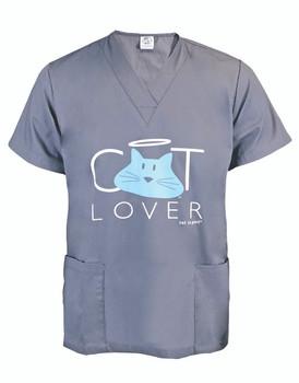 Cat Lover V Neck Scrub Top