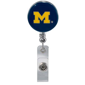 University of Michigan Retractable Badge Reel - Licensed Michigan Badge Reel