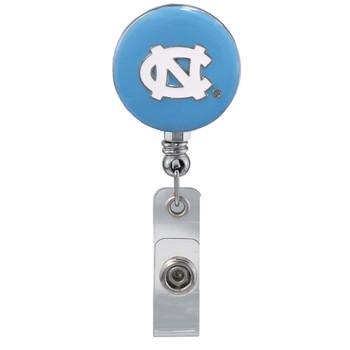 UNC Retractable Badge Reel - Licensed North Carolina Badge Reel