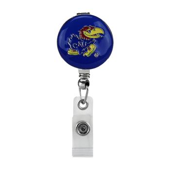 University of Kansas Jayhawks Retractable Badge Reel - Licensed Badge Reel