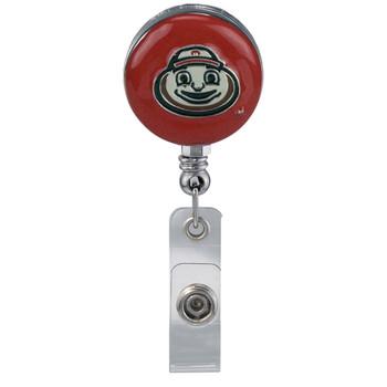 Ohio State Brutus Buckeye Retractable Badge Reel - Licensed Badge Reel