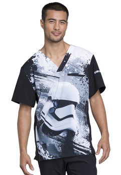 Star Wars Storm Trooper V Neck Scrub Top