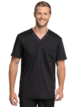 Cherokee Revolution Tech Men's V Neck Antimicrobial with Fluid Barrier Scrub Top*