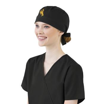 University of Wyoming Cowboys  Black Scrub Cap for Women