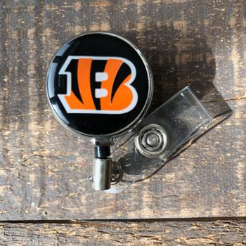 Cincinnati  Bengals Black Retractable Badge Reel