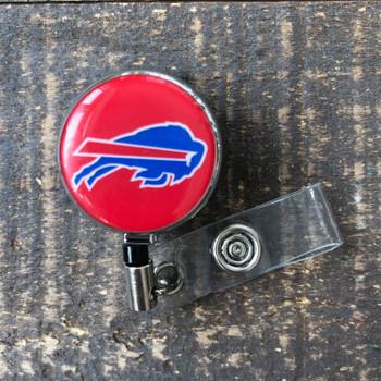 Buffalo Bills Red Retractable Badge Reel