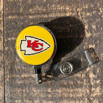Kansas City Chiefs Yellow Retractable Badge Reel