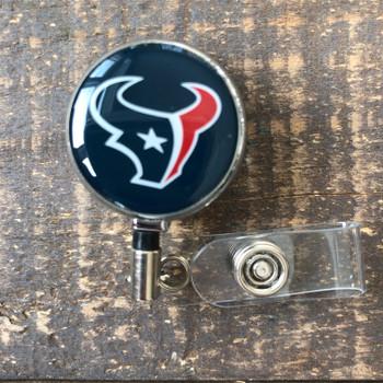 Houston Texans Navy Retractable Badge Reel