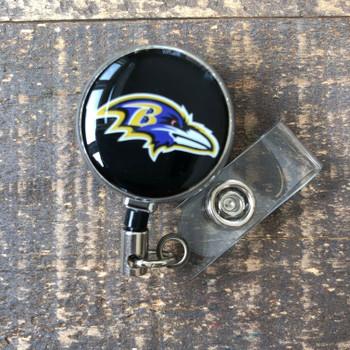 Baltimore Ravens Black Retractable Badge Reel
