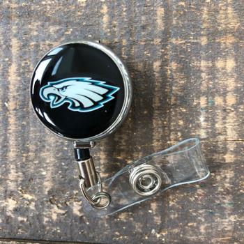 Philadelphia Eagles Black Retractable Badge Reel