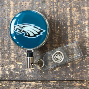 Philadelphia Eagles Midnight Green Retractable Badge Reel