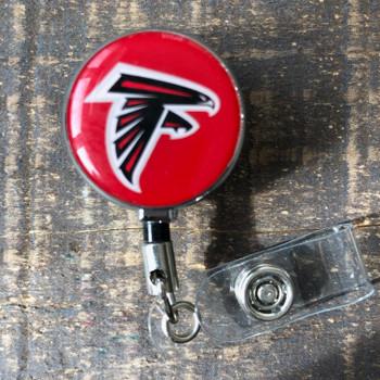 Atlanta Falcons Red Retractable Badge Reel