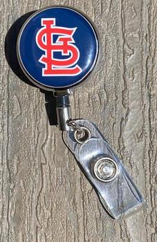 St. Louis Cardinals Navy Retractable Badge Reel