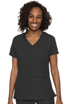 Med Couture Insight Women's V-Neck Side Pocket Scrub Top style 2468*