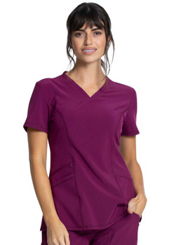 Allura V-Neck Front Patch Pocket Women's Top style CKA684*