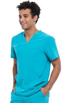 Allura Men's 3 pocket scrub top style CKA 686*