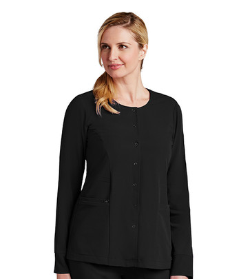 Grey's Anatomy Signature : 2 Pocket snap front Warm-Up For Women*
