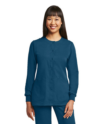 Grey's Anatomy : 4 Pocket Round Snap Warm-Up Jacket For Women*