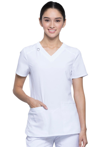 Infinity V-Neck Antimicrobial Protection Scrub Top For Women*