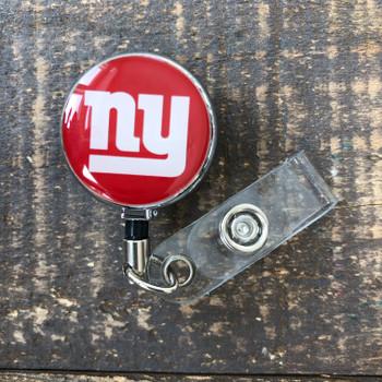 New York Giants Red Retractable Badge Reel