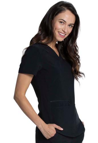 Allura 3 Pocket V-Neck Front Patch Pocket Women's Top style CKA 685*