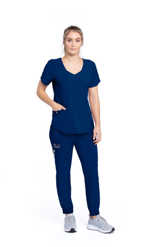 Barco ONE Wellness Antimicrobial : Sport V Neck Scrub Top For Women style BWT071*