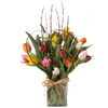 Deluxe/Better -20 Mixed tulips in a vase