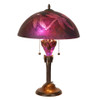 Violet Etched Dragonfly Table Lamp