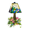 """""""Angels' Arms"""" Stained Glass Memorial Lamp"""