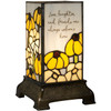 """Friends"" 6"" Stained Glass Memorial Lamp"