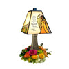 """""""Heaven in Our Home"""" Stained Glass Memorial Lamp"""