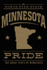 TOWEL Minnesota State Pride Gold on Black
