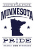 Minnesota State Pride - Blue on White Ceramic Coasters