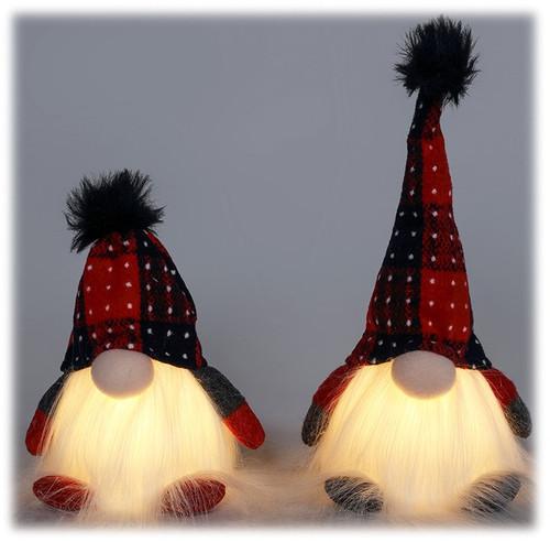 LED Plush Glowing Short Gnome set of 2
