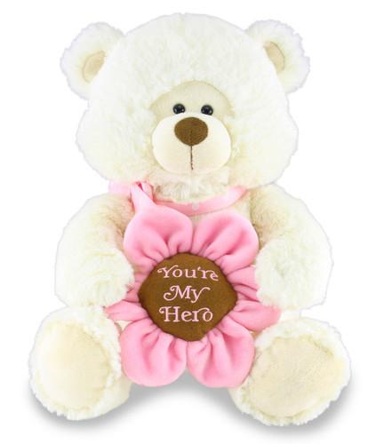 """Hazel """"You're My Hero"""" Singing Bear - By Cuddle Barn"""