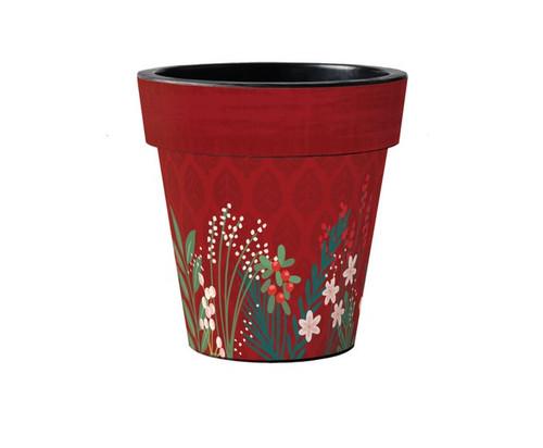 "Winter Garden Flowers 15"" Art Planter Set of 2- By Studio M"