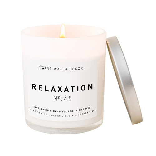 Relaxation Soy Candle By Sweet Water Decor